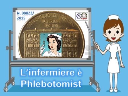 L'infermiere è Phlebotomist
