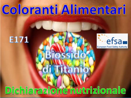 Dichiarazione Nutrizionale & Coloranti Alimentari EFSA