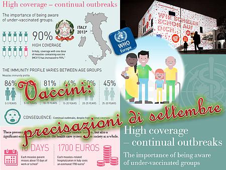 Vaccini: precisazioni di settembre