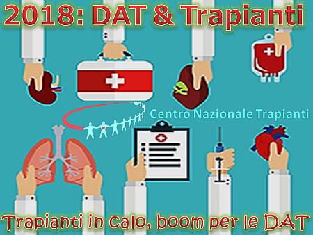 2018: in Calo i Trapianti, boom per le DAT