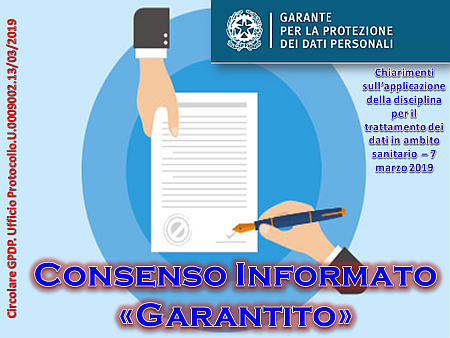 """Consenso informato """"Garantito"""""""