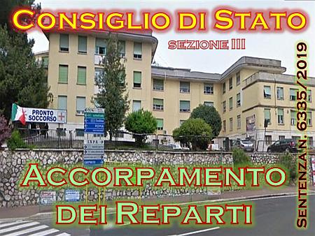 Consiglio di Stato e Accorpamento di Reparti