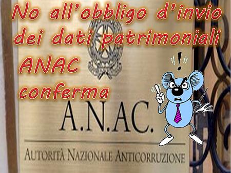 Anac conferma: no dati patrimoniali per dirigenti sanitari