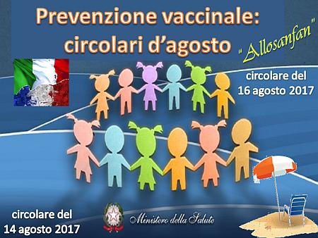 """""""Allosanfan"""", prevenzione vaccinale e circolari d'agosto"""