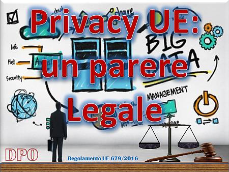 Privacy, un parere Legale