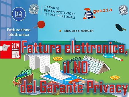 Fattura elettronica, il NO del Garante Privacy